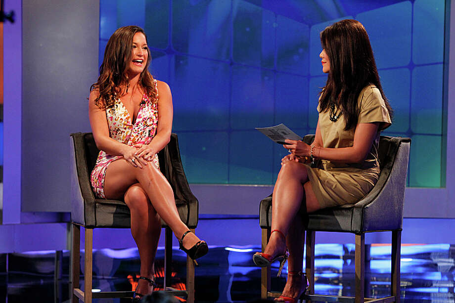 'Big Brother' host Julie Chen interviews Jessie Kowalski following her eviction on Aug.15. Photo: CBS, Sonja Flemming / �©2013 CBS BROADCASTING INC. All Rights Reserved.