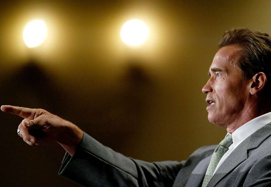 Once-fervent proponents of the recall that put Arnold Schwarzenegger into office after yanking Gov. Davis are likely to change the subject nowadays. Photo: Carlo Allegri, Getty Images