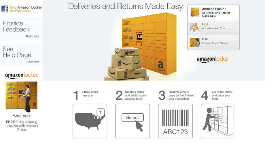 Back at Amazon, the company started rolling out its Amazon Locker delivery and return sites in 2011. Photo: Amazon