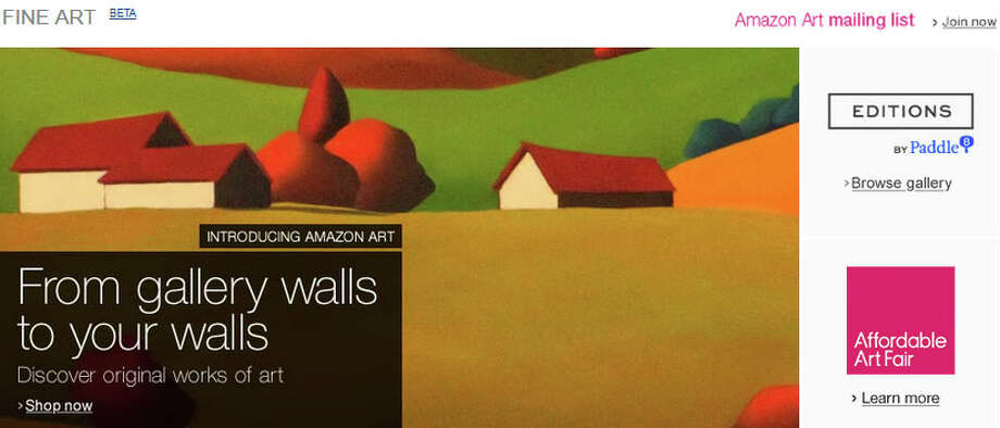 Amazon started selling fine art in 2013. Photo: Amazon