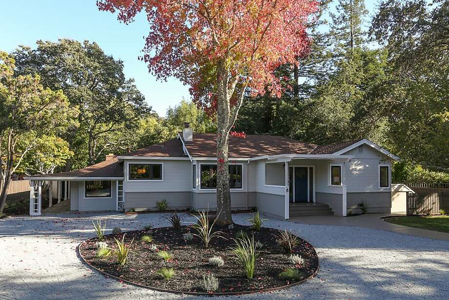 This four-bedroom ranch-style home at 8 Deer Hollow Road in San Anselmo is available for $1.749 million. Photo: Adam Willis Photography