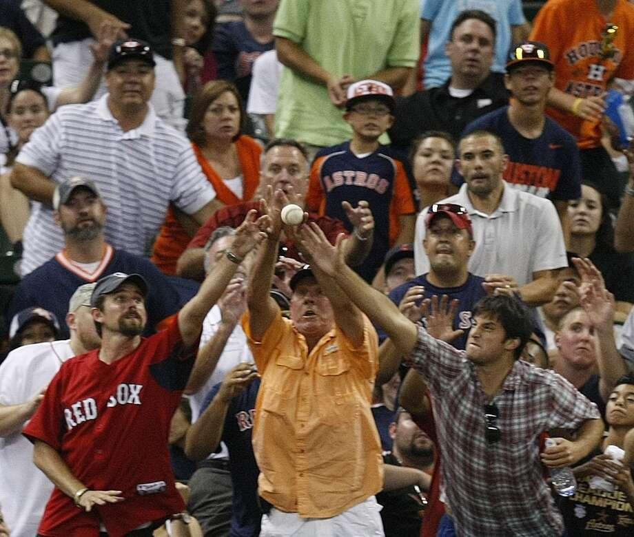 "At least when you come to Texans games, you're surrounded by other Texans fans. Do you have any idea what it's like to sit in a section surrounded by 15,000 loudmouth Red Sox fans at a ""home"" game? Photo: Houston Chronicle File Photo"
