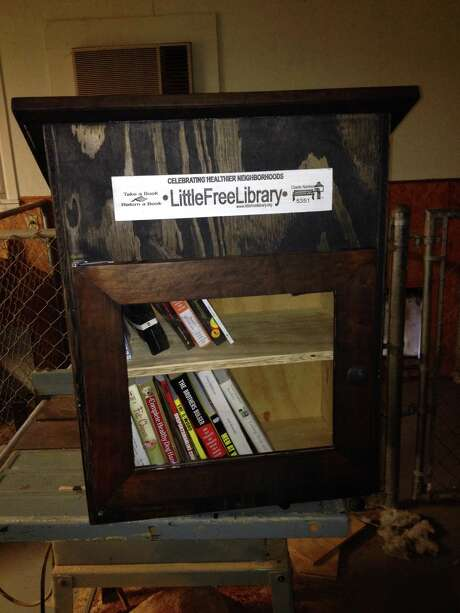 My Little Free Library is ready to go. Photo: Kyrie O'Connor