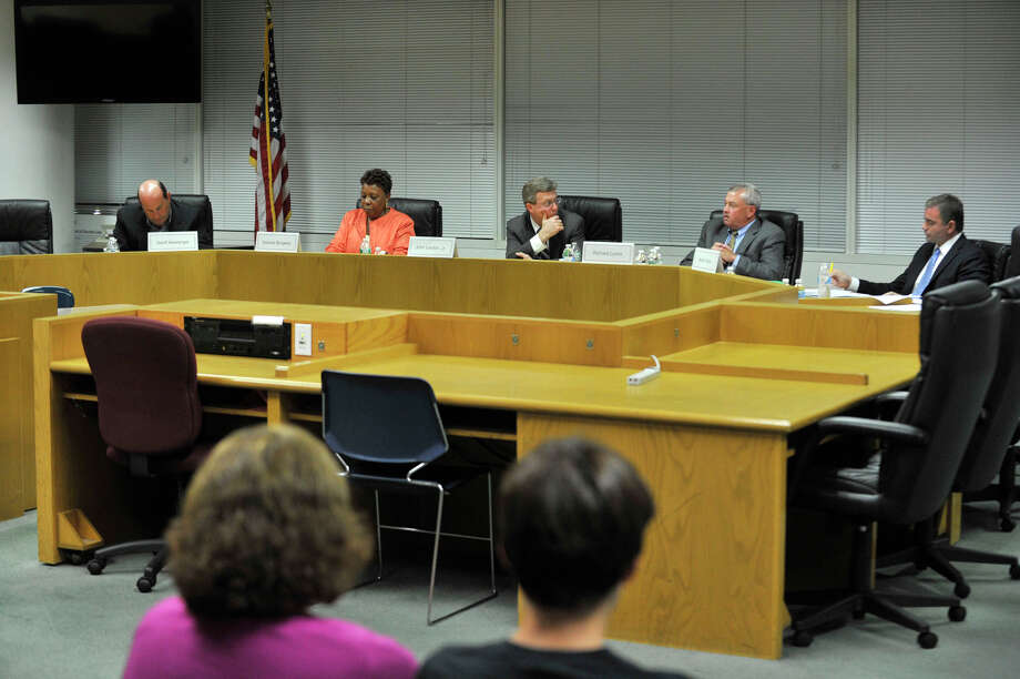 Boare of Education candidates take part in the Parent-Teacher Council's candidate forum at the Stamford Government Center on Wednesday, Oct. 2, 2013. Photo: Jason Rearick / Stamford Advocate