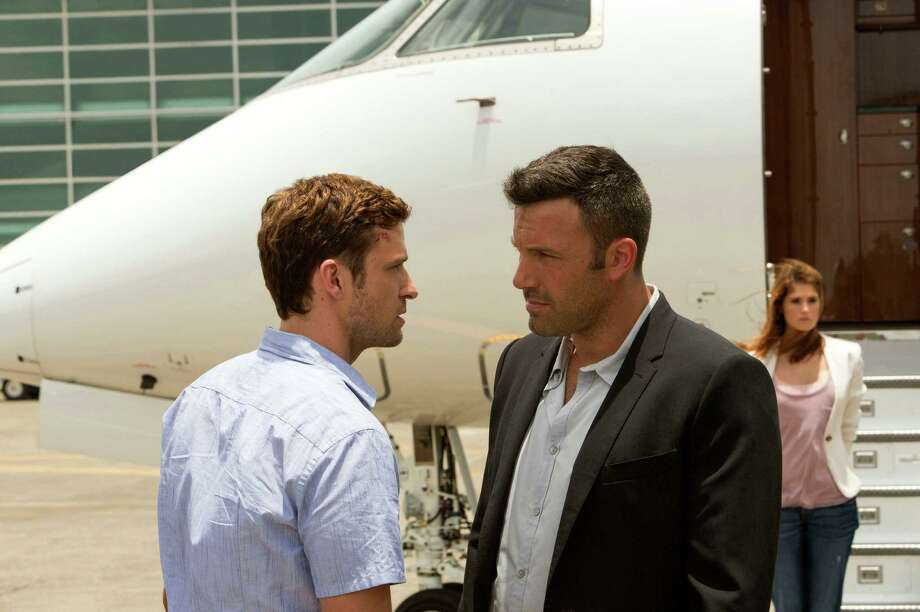 "This image released by 20th Century Fox shows Justin Timberlake, left, and Ben Affleck in a scene from ""Runner Runner."" (AP Photo/20th Century Fox, Scott Garfield) ORG XMIT: NYET155 Photo: Scott Garfield / 20th Century Fox"