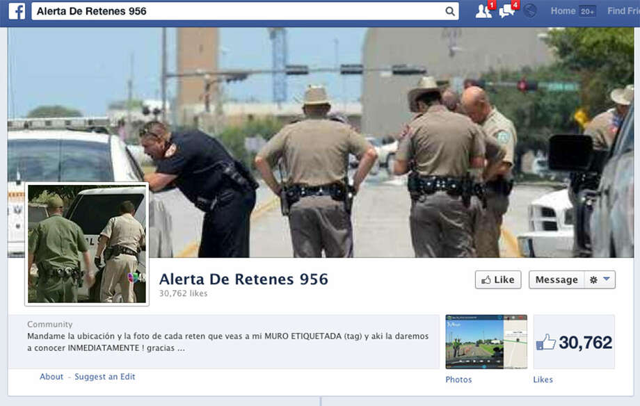 A Facebook page shows a police stop as part of a  media campaign in McAllen that protests random checkpoints. Photo: Facebook