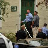 Local and federal authorities search a condominium at 114 Woodside Green in Stamford, Conn. related to a woman's attempt to ram the White House gate today in Washington, D.C.