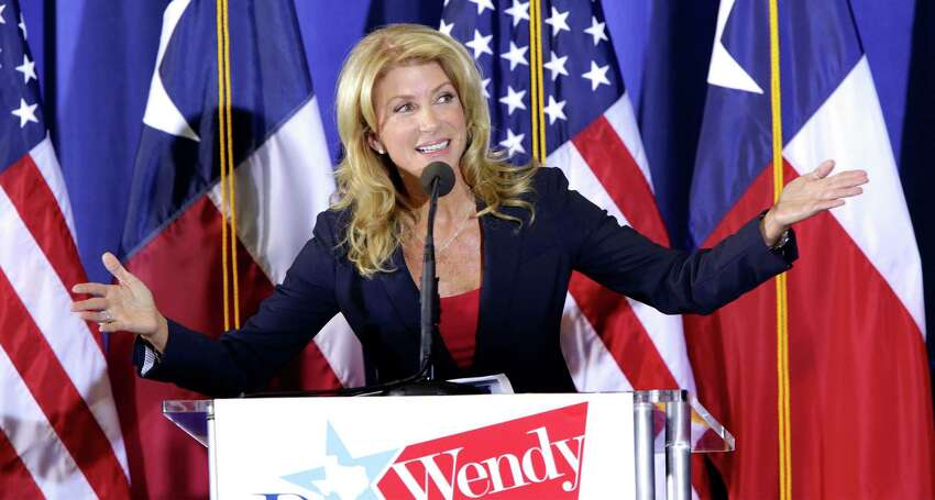 Senator Wendy Davis announces her candidacy for Texas Governor at W.G. Thomas Coliseum in Haltom City, TX, Oct. 3, 2013.