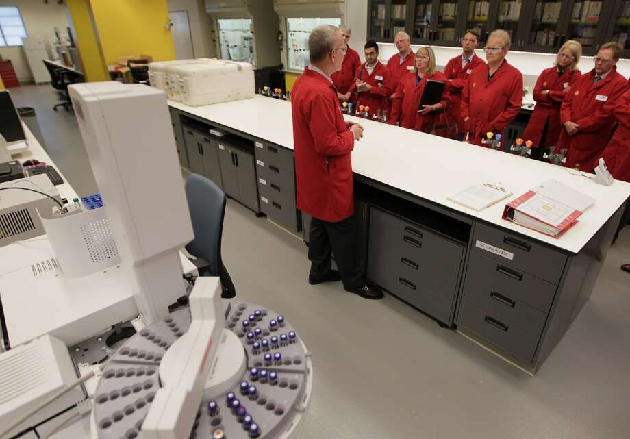 Shell experts talk about their efforts to make biofuels to replace gasoline a tour of research laboratories and a Shell biofuels plant at the Shell Technology Center Thursday, Oct. 3, 2013, in Houston. Photo: James Nielsen, Houston Chronicle