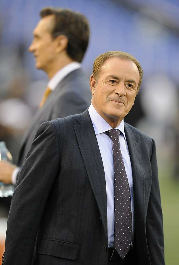 Al Michaels is probably announcing his final Candlestick game Sunday. Photo: Nick Wass, Associated Press