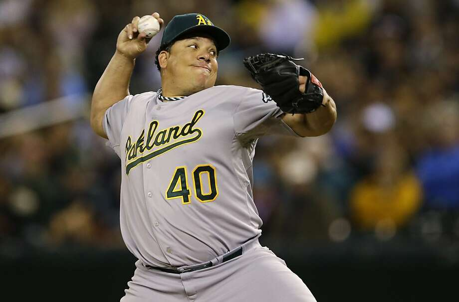 Bartolo Colon throws mostly fastballs, but at widely varying speeds and with deadly accuracy. Photo: Ted S. Warren, Associated Press