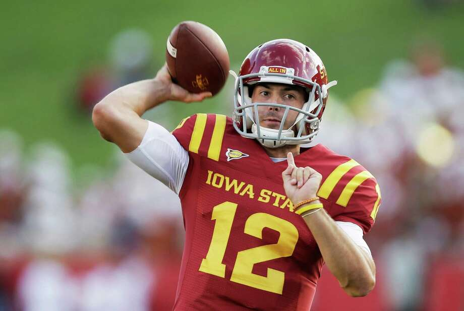 Iowa State quarterback Sam B. Richardson warms up before an NCAA college football game against Texas, Thursday, Oct. 3, 2013, in Ames, Iowa. Photo: Charlie Neibergall, Associated Press / AP