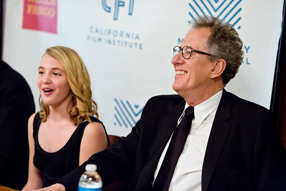 "Actor Geoffrey Rush of ""The Book Thief"" along with actress Sophie Nelisse answer questions during a press conference at the Mill Valley Film Festival opening night in Mill Valley, Calif., Thursday, October 3, 2013. Photo: Jason Henry, Special To The Chronicle"