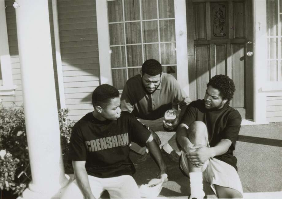 "Cuba Gooding Jr., Larry Fishburne and Ice Cube star in ""Boyz in the Hood.""  Topical, timeless, a note of complexity.  Classic? Maybe. Photo: San Francisco Chronicle File 199"
