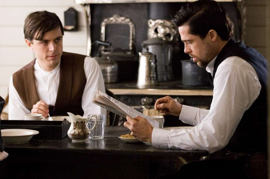 "Casey Affleck as Robert Ford and Brad Pitt as Jesse James in Warner Bros. in ""The Assassination of Jesse James.""  Not topical, but timeless. Great performance from Casey Affleck. Memorable scenes, overarching consciousness, and complexity. Classic? Yes -- if people discover it. Photo: Kimberly French"