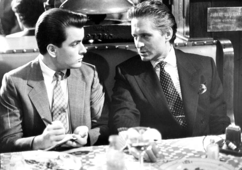 "Michael Douglas and Charlie Sheen in ""Wall Street.""   One great performance, topical, timeless, one memorable scene, an overarching consciousness.  Complexity? Not really. Classic?  Possible under the Clooney-Bogart rule. Photo: Twentieth Century Fox"
