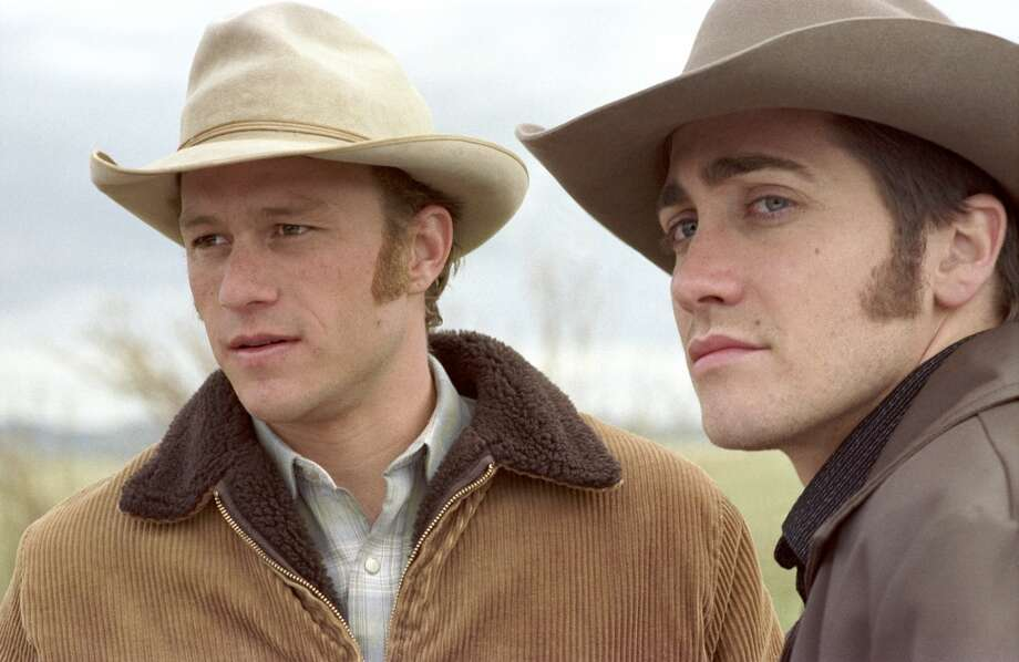 "Heath Ledger and Jake Gyllenhaal in ""Brokeback Mountain.""  Very topical, yet timeless, one great performance, at least two memorable scenes, and a complex finish. Classic? YES. Photo: KIMBERLY FRENCH, AP"