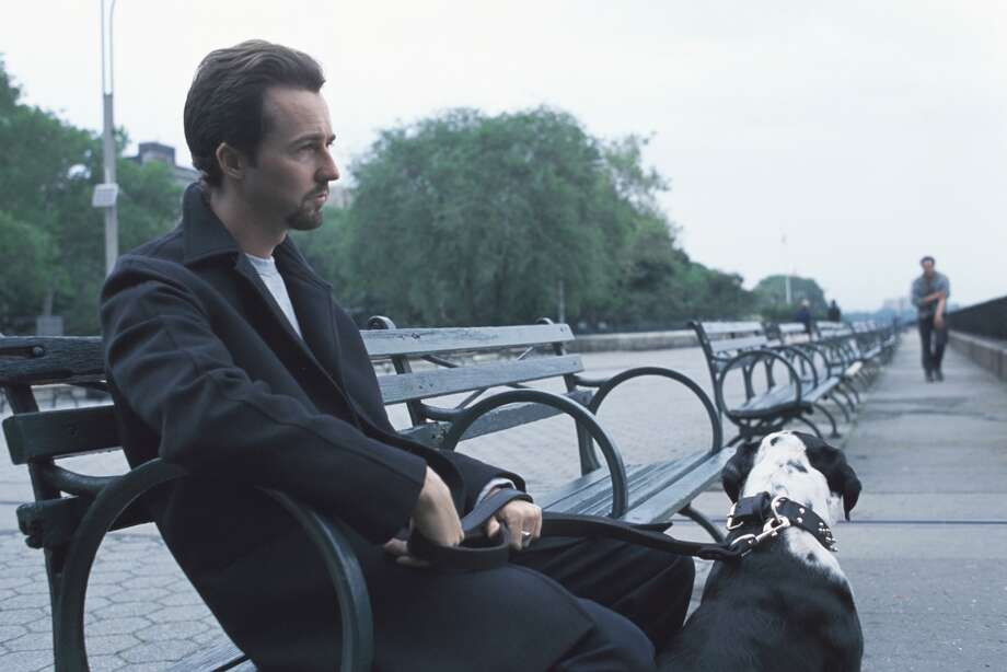 "Edward Norton in ""25Th Hour.""  Topical beyond belief (shot in NYC right after 9/11). Timeless, two great performances (Norton and Hoffman), memorable scenes, definite overarching consciousness, profound ending. Classic?  YES.  One of the best American films of the century, so far. Photo: HANDOUT, SFC"