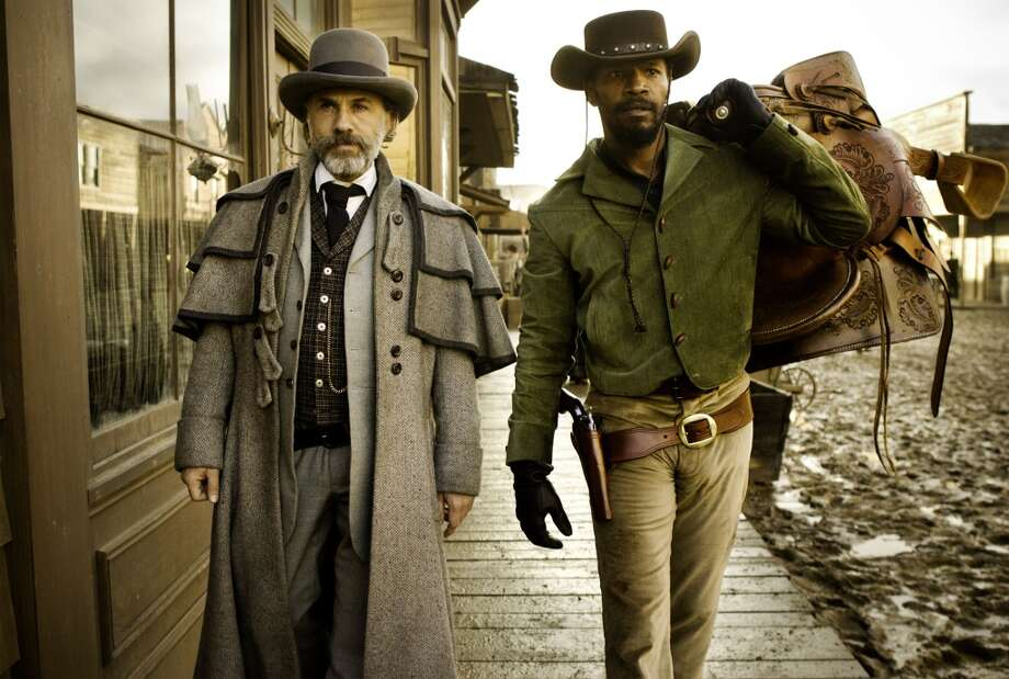 "Christoph Waltz and Jamie Foxx in the film ""Django Unchained."" Not exactly topical.  Not sure about the complex note at the finish, either.  The rest is there. Classic?  Maybe. Photo: Andrew Cooper SMPSP, Associated Press"