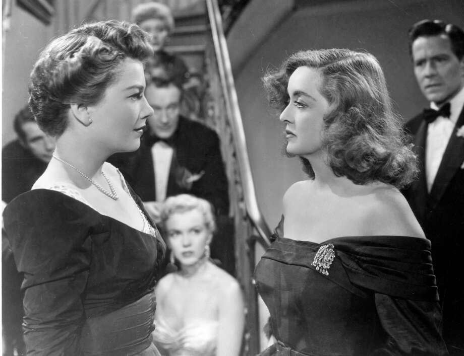 """Anne Baxter, left, and Bette Davis in the film, """"All About Eve.""""  Definitely timeless, two great performances, memorable scenes, and an overarching consciousness. Possibly a complex finish. Classic?  Yes. Photo: Museum Of Modern Art, NYT"""