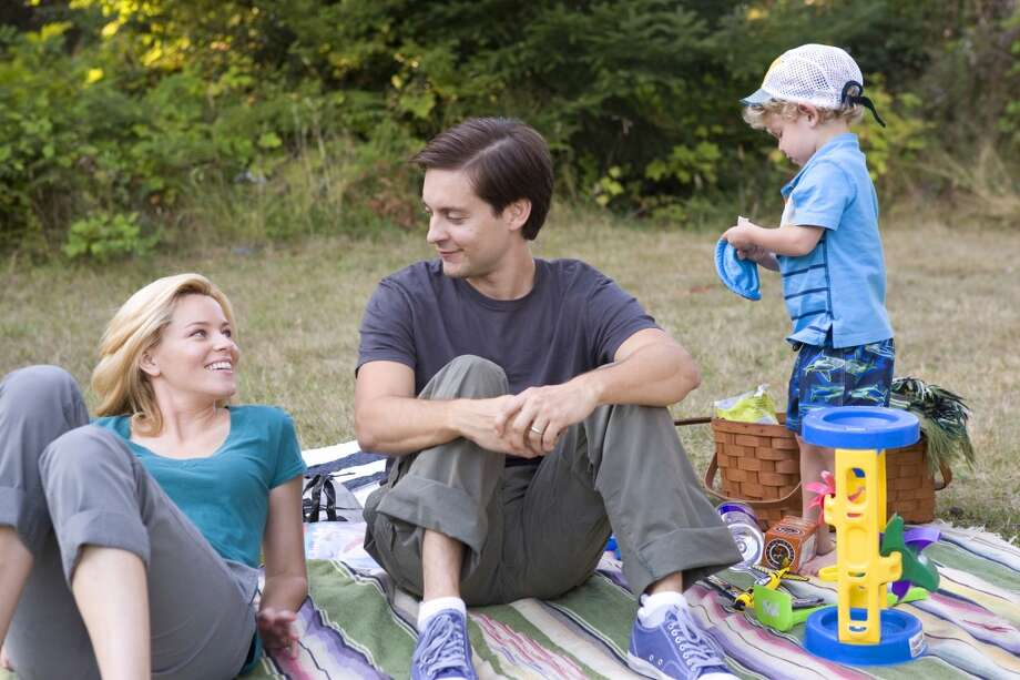 "Elizabeth Banks and Tobey Maguire in a scene from, ""The Details.""  Very topical, yet timeless.  Great performance from Laura Linney. Memorable scenes.  An overarching consciousness, and a complex finish -- so complex that many people didn't grasp it. Future classic?  Yes. Photo: Jan Cook, Associated Press"