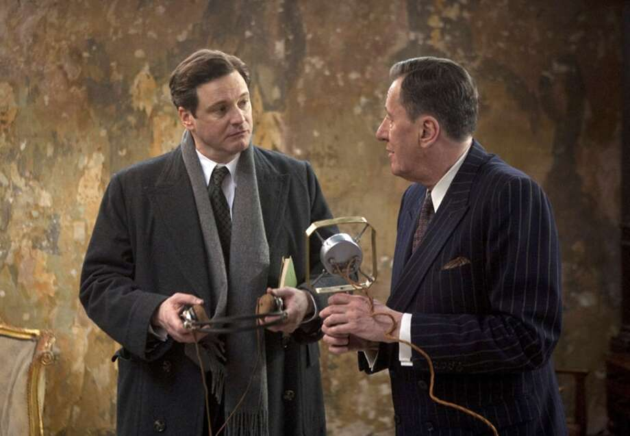 "Collin Firth and Geoffrey in ""The King's Speech.""  One great performance, a couple of memorable scenes . . . Classic? No. Photo: Laurie Sparham, AP"