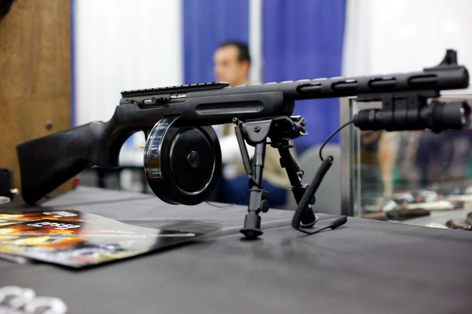 A high-capacity shotgun is seen, during day 1 of the 142nd NRA annual meetings and exhibits, Friday, May 3, 2013 at the George R Brown convention center in  (TODD SPOTH FOR THE CHRONICLE) Photo: © TODD SPOTH, 2013