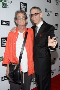 """Musician Lou Reed, left, and Richard Belzer attend the """"Breaking Bad"""" NY Premiere 2013 at The Film Society of Lincoln Center, Walter Reade Theatre on July 31, 2013, in New York City.  (Photo by Andrew H. Walker/Getty Images for AMC) Photo: Andrew H. Walker"""