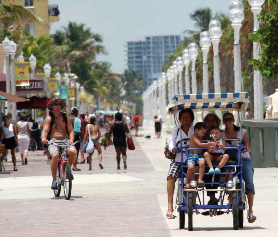 Broadwalk, Hollywood, Florida Photo: Associated Press