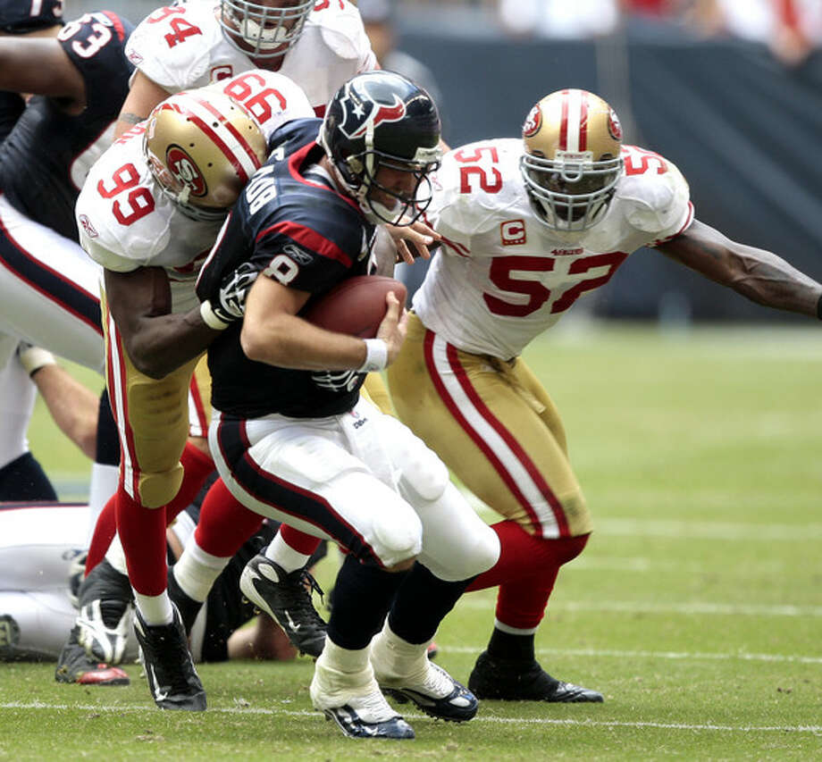 Schaub must rally against a 49ers defense without pass rusher deluxe Aldon Smith.