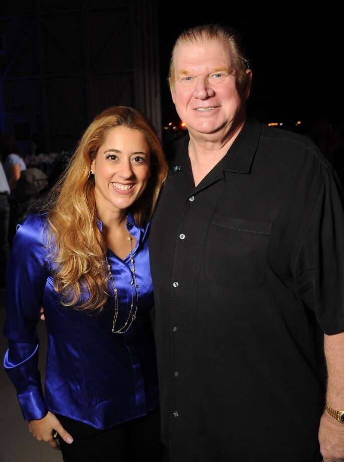 Kristina Hornberger and Paul Somerville at the HPD True Blue Gala benefitting the Houston Police Foundation at the Landry's Flight Hanger at Hobby Airport Saturday Oct. 20,2012. Photo: Dave Rossman, For The Houston Chronicle