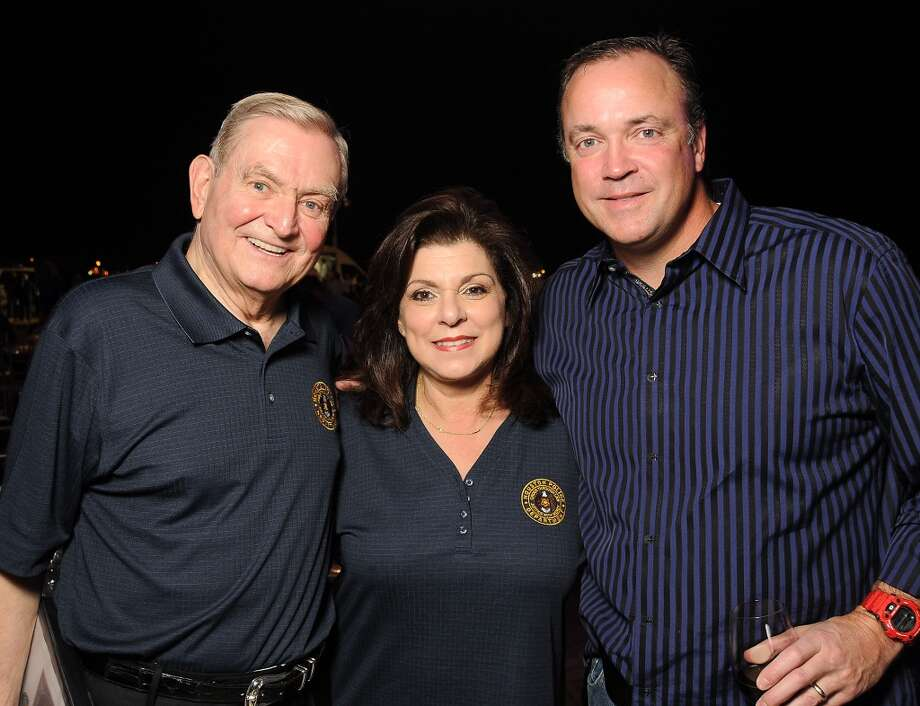 From left: Dave Ward, Laura Ward and Ted Brown at the HPD True Blue Gala benefitting the Houston Police Foundation at the Landry's Flight Hanger at Hobby Airport Saturday Oct. 20,2012. Photo: Dave Rossman, For The Houston Chronicle