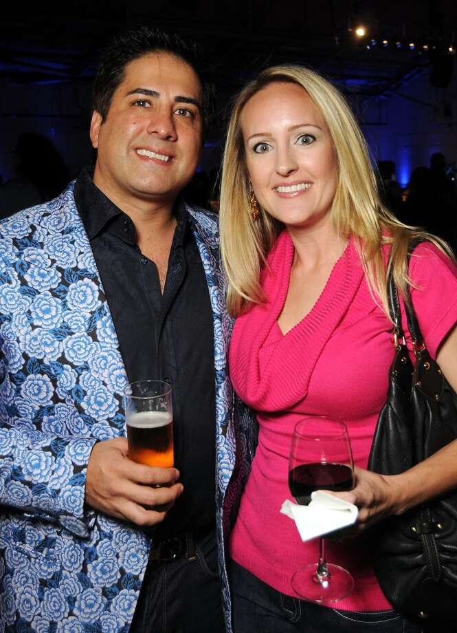 Andy and Kelly Aweida at the HPD True Blue Gala benefitting the Houston Police Foundation at the Landry's Flight Hanger at Hobby Airport Saturday Oct. 20,2012. Photo: Dave Rossman, For The Houston Chronicle