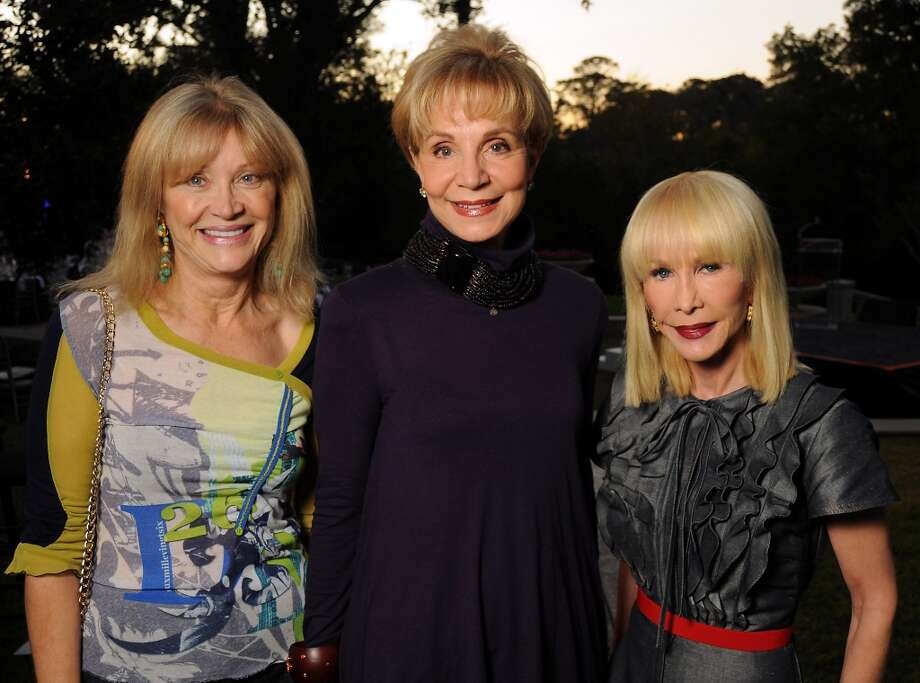 From left: Astrid Van Dyke, Leisa Holland-Nelson and Diane Lokey Farb at the Houston Police Foundation fundraiser at the home of Tilman Fertitta Saturday Oct. 22,2011. Photo: Dave Rossman, For The Chronicle