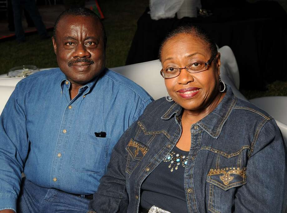 Charles Johnson Jr. and his wife Carolyn at the Houston Police Foundation fundraiser at the home of Tilman Fertitta Saturday Oct. 22,2011. Photo: Dave Rossman, For The Chronicle