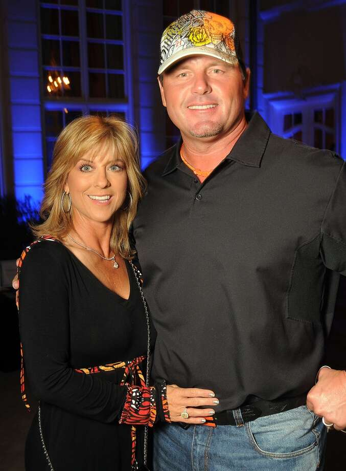 Roger Clemens and his wife Debbie at the Houston Police Foundation fundraiser at the home of Tilman Fertitta Saturday Oct. 22,2011. Photo: Dave Rossman, For The Chronicle