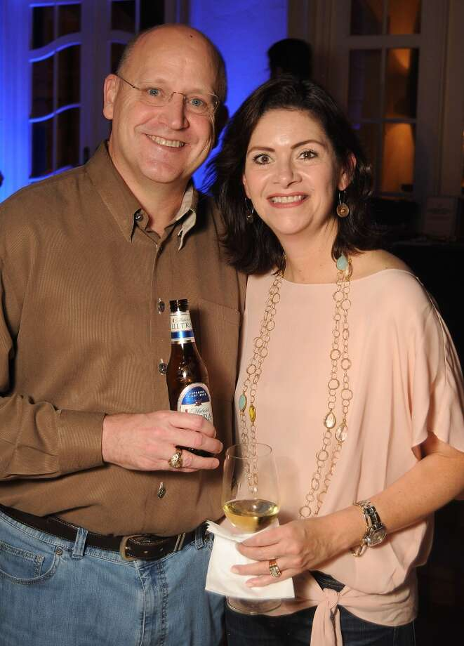 Tim and Roxanne Neumann at the Houston Police Foundation fundraiser at the home of Tilman Fertitta Saturday Oct. 22,2011. Photo: Dave Rossman, For The Chronicle