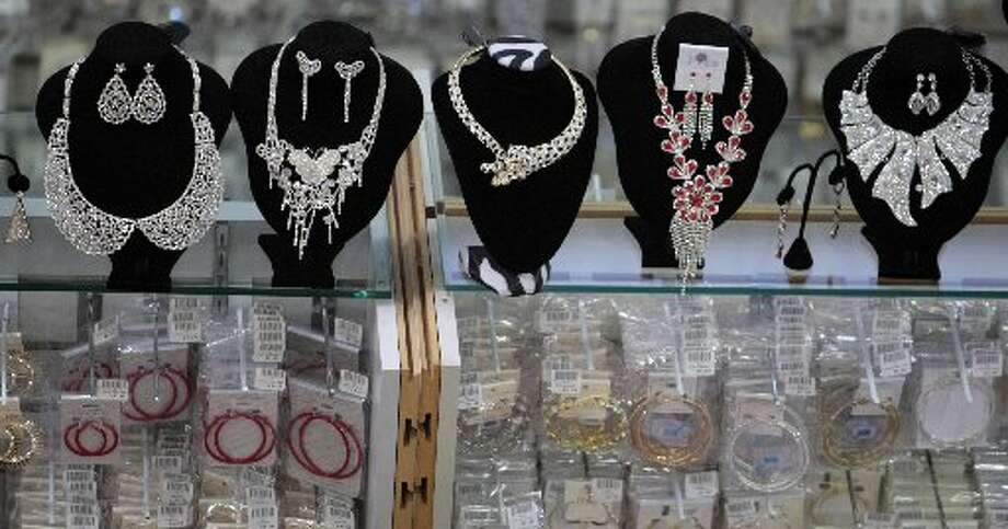 Necklaces at the Jewelry Factory on Harwin Drive. Photo: Billy Smith II
