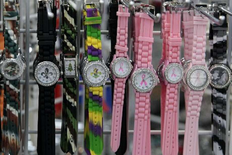 Watches on sale at Bella Jewelry in Harwin Central Mart. Photo: Billy Smith II