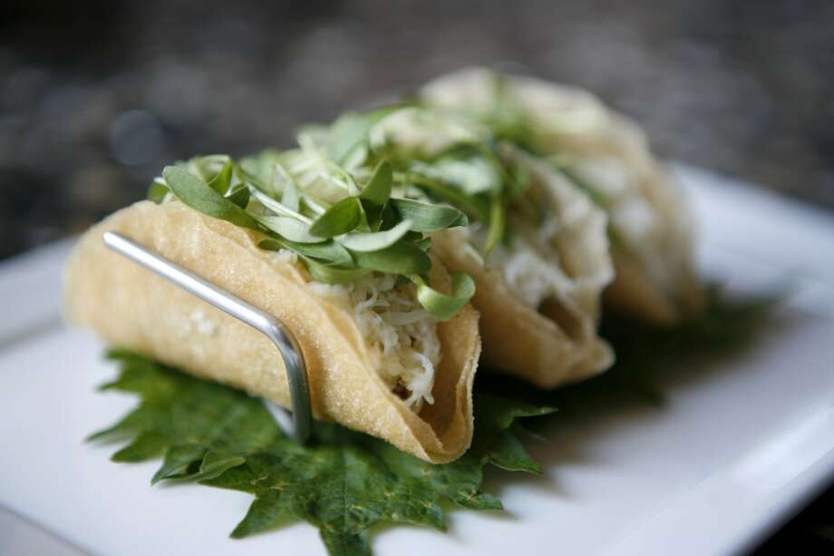 Crab tacos at The One Market bar and restaurant. Photo: Jasna Hodzic, The Chronicle