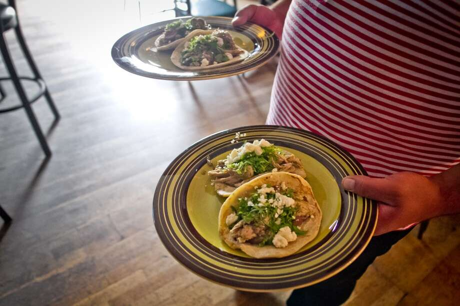 The Pork Tacos of the Galley restaurant. Photo: John Storey