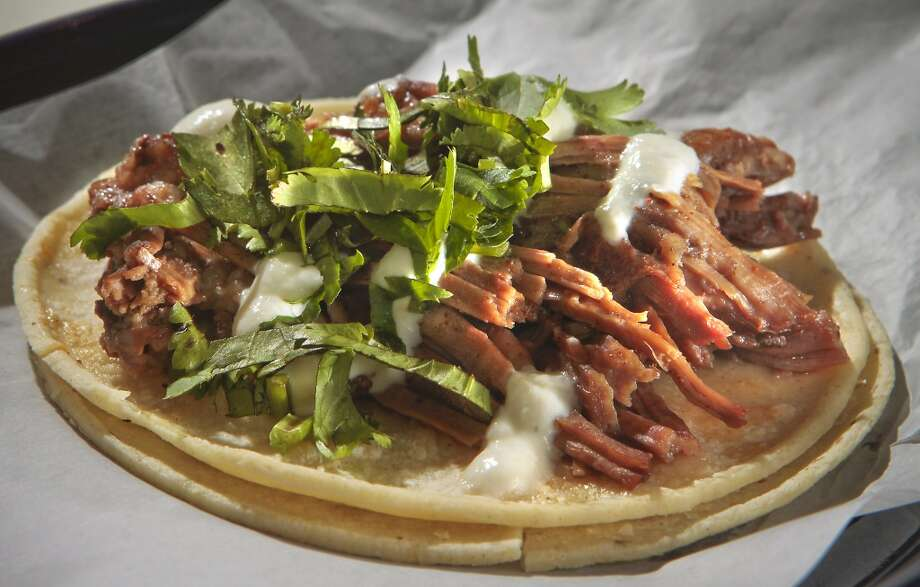 The Braised Short Rib Taco with Horseradish Cream at Tacobar restaurant. Photo: John Storey, Special To The Chronicle