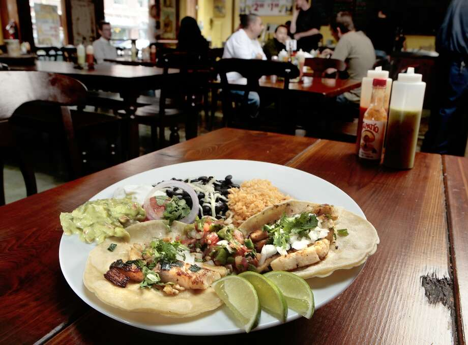 IronThe fish taco plate at the Iron Cactus. Photo: JOHN STOREY, SPECIAL TO THE CHRONICLE