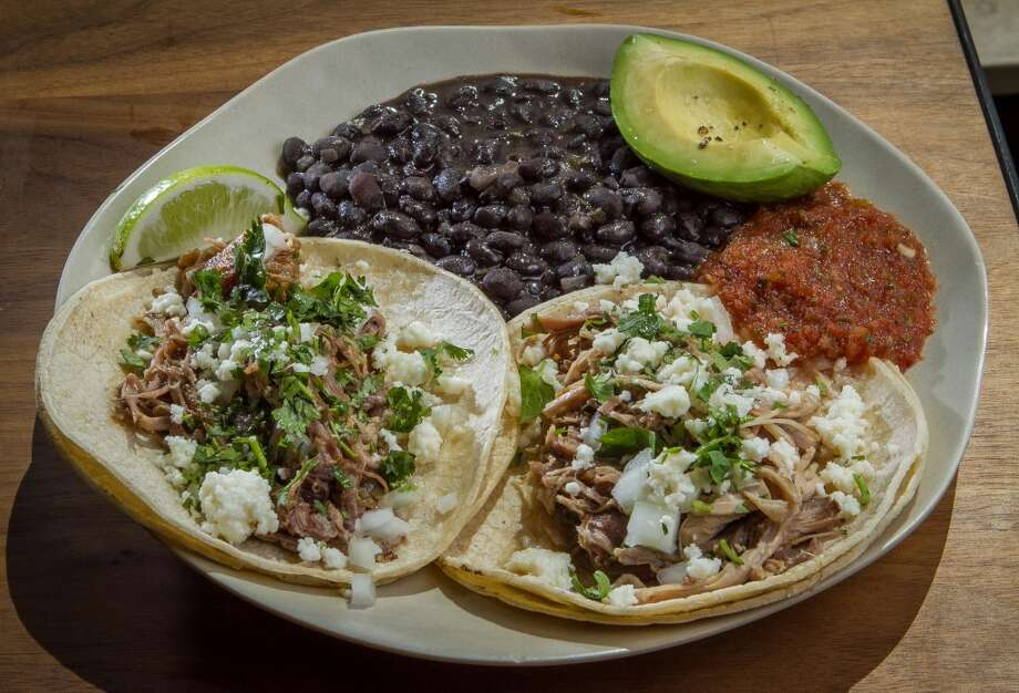 The organic Llano Seco Pork Tacos at Seaglass restaurant. Photo: John Storey, Special To The Chronicle