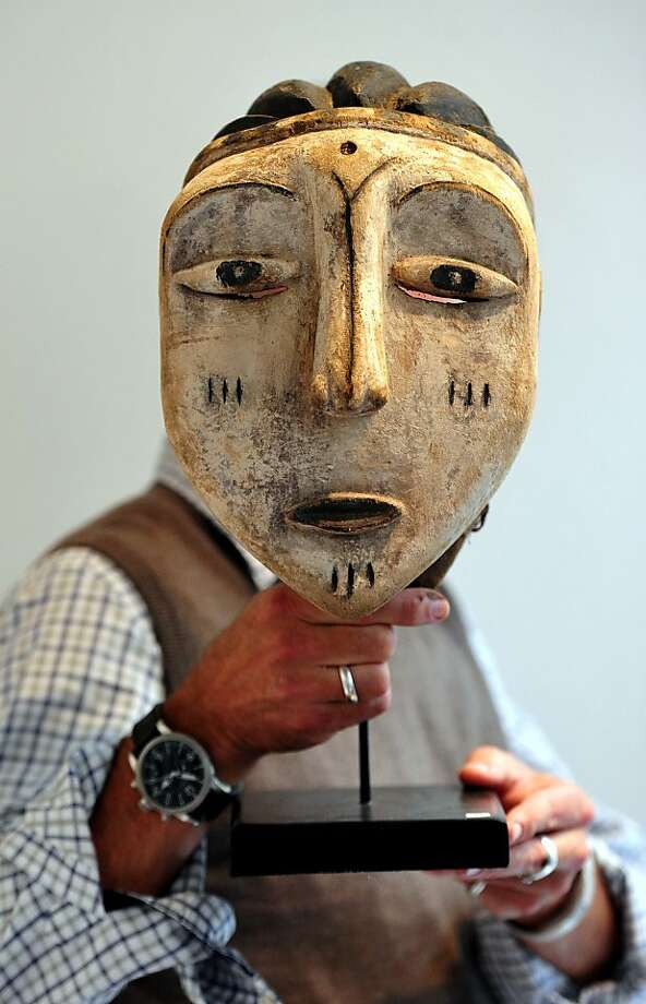 Facial perspective: A ceremonial dance mask from the Democratic Republic of Congo is one of the many works of art on display at the Tribal Perspectives show at The Gallery in London. Photo: Carl Court, AFP/Getty Images