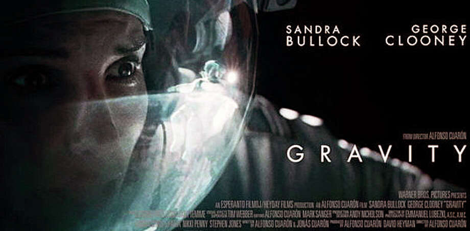 """The sci-fi thriller, """"Gravity,"""" starring Sandra Bullock and George Clooney, is playing in area movie theaters. Photo: Contributed Photo / Westport News contributed"""