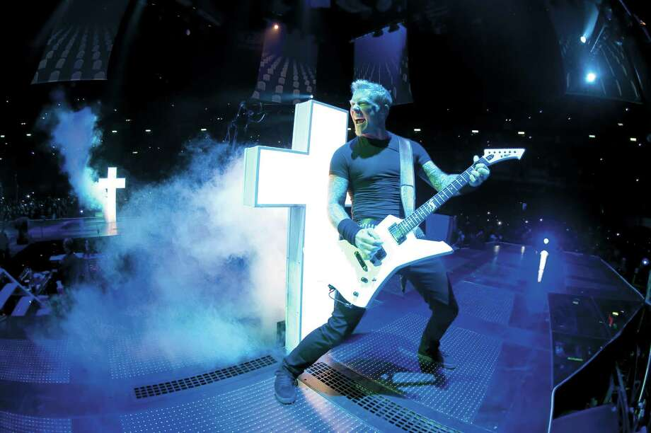 "Metallica's James Hetfield plays in the music-driven feature film ""Metallica Through the Never."" Photo: Picturehouse"