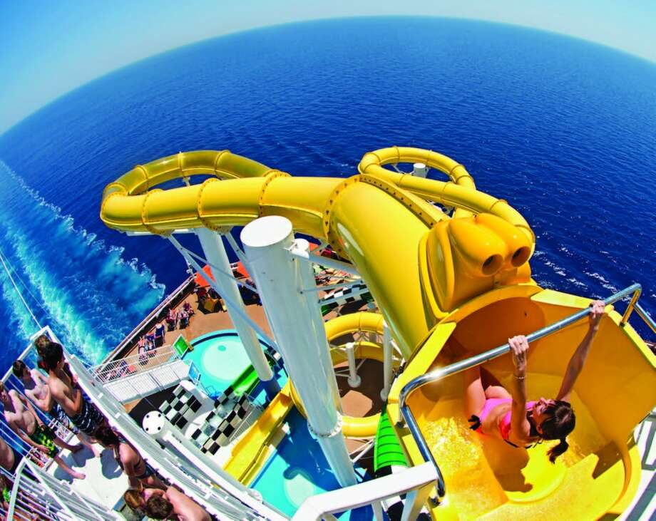 The Carnival Sunshine Waterworks offers plenty of thrills for cruise guests of all ages. Photo: Courtesy Photo, For The Express-News