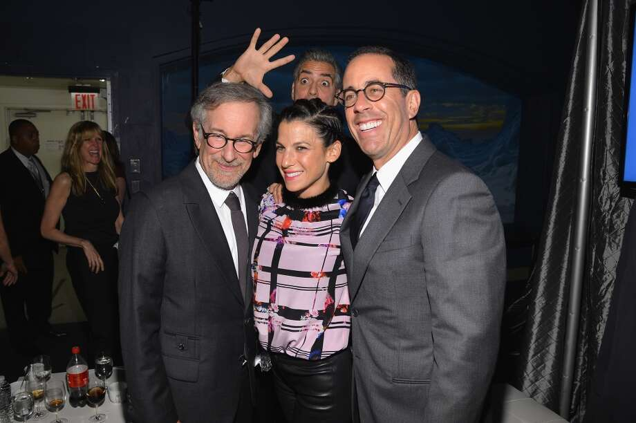 George Clooney, Steven Spielberg, Jessica Seinfeld and Jerry Seinfeld attend the USC Shoah Foundation Institute 2013 Ambassadors for Humanity gala at the American Museum of Natural History on October 3, 2013 in New York, New York.  (Photo by Larry Busacca/Getty Images for the USC Shoah Foundation Institute) Photo: Larry Busacca, (Credit Too Long, See Caption)