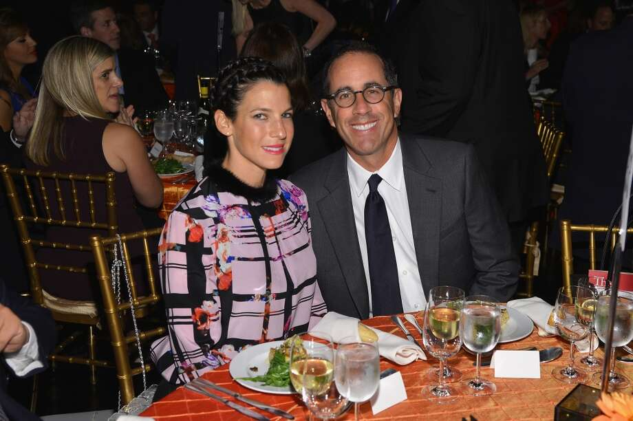 Jessica Seinfeld and Jerry Seinfeld attend the USC Shoah Foundation Institute 2013 Ambassadors for Humanity gala at the American Museum of Natural History on October 3, 2013 in New York, New York.  (Photo by Larry Busacca/Getty Images for the USC Shoah Foundation Institute) Photo: Larry Busacca, (Credit Too Long, See Caption)